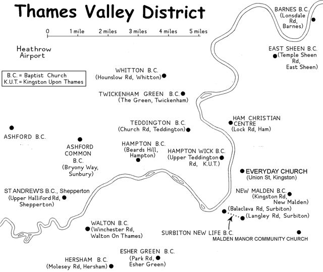 map of the Thames Valley District
